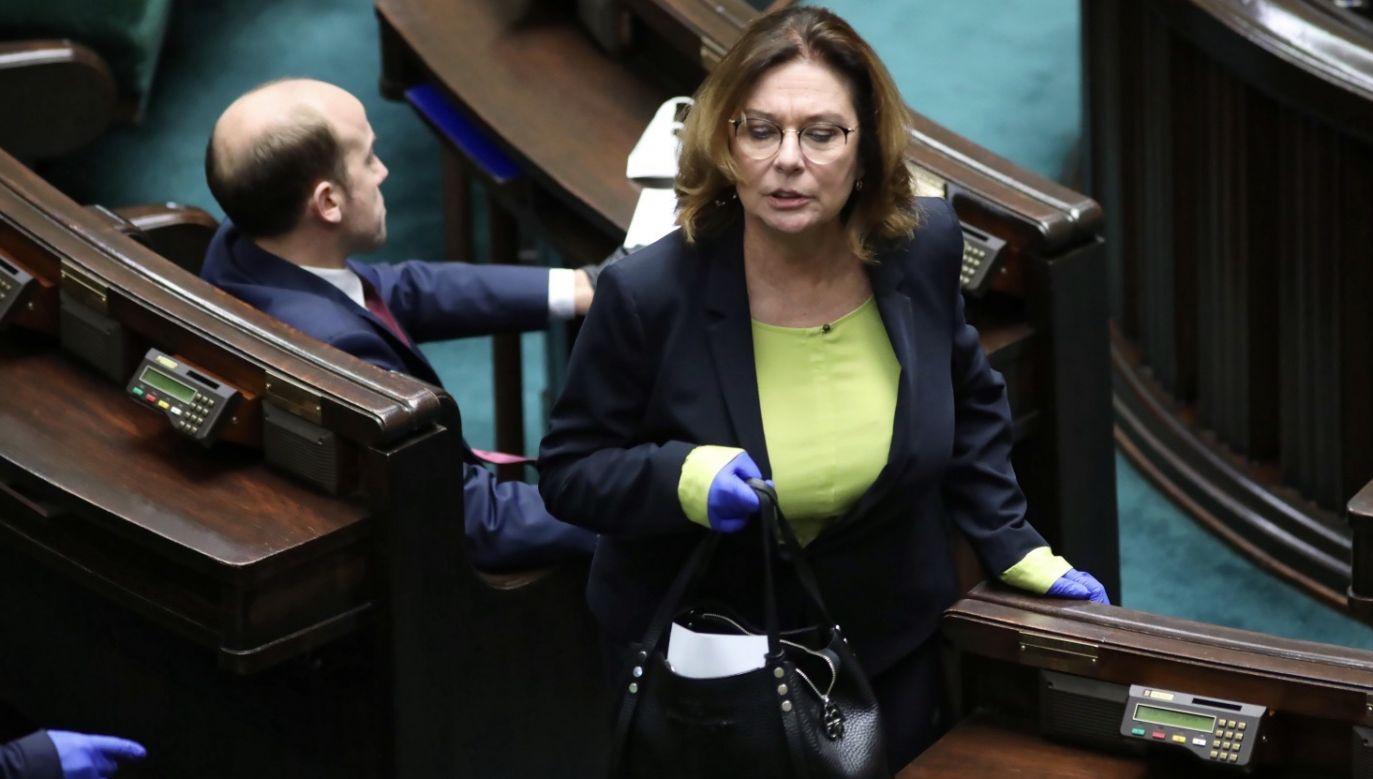 Przewodniczący PO na pytanie o kandydatkę partii nie odpowiedział (fot. PAP/Leszek Szymański)