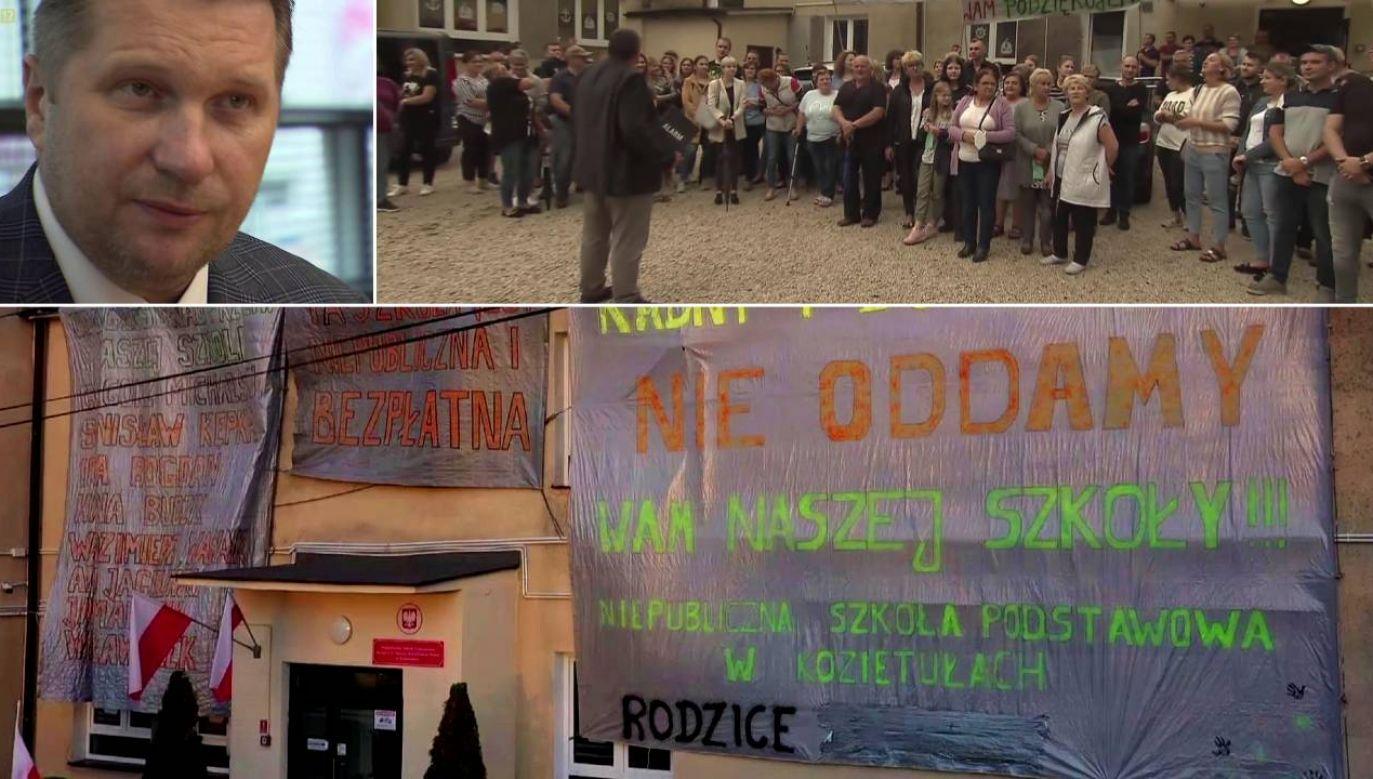 W sprawę zaangażował się szef MEiN prof. Przemysław Czarnek (fot. TVP1)