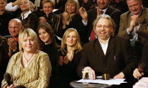 Z Tomaszem Raczkiem podczas benefisu serialu