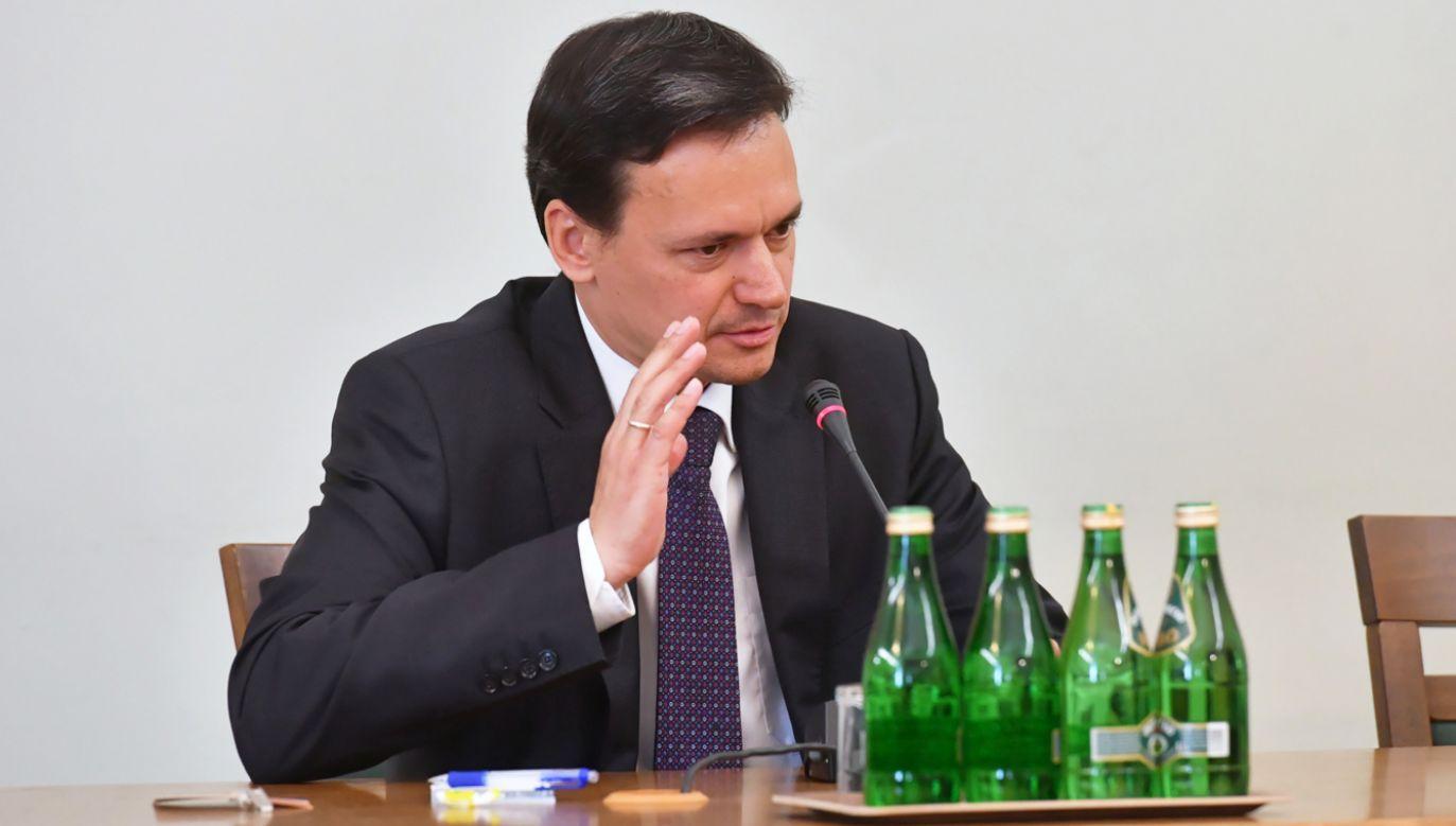 Jacek Cichocki przed komisją śledczą ds. VAT (fot. PAP/Piotr Nowak)