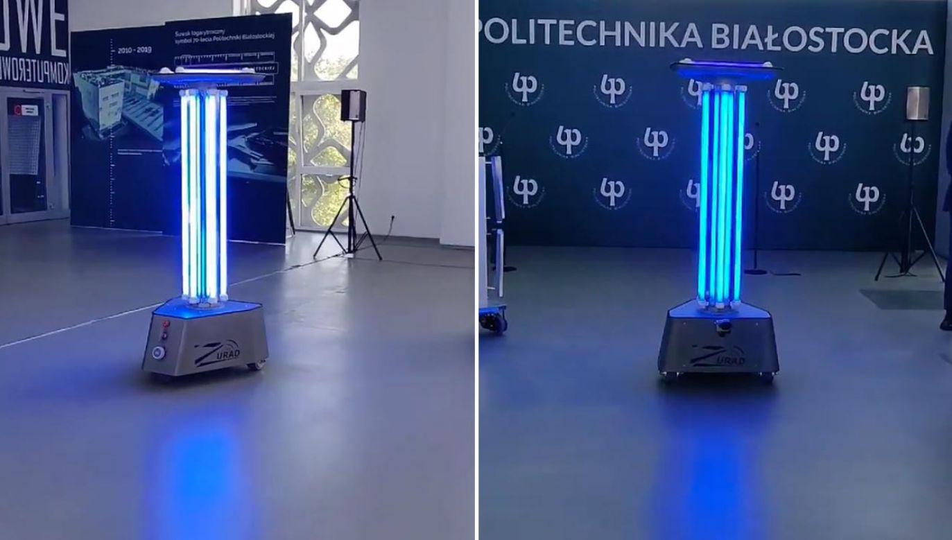 Oto mobilny robot RobUV (fot. Facebook/Politechnika Białostocka)