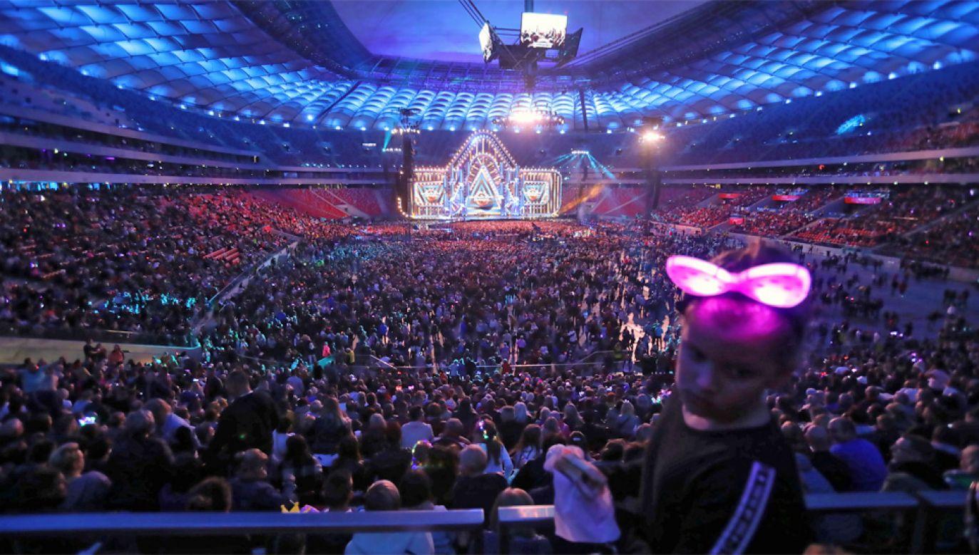Transmisja z imprezy odbyła się w telewizyjnej Dwójce (fot. PAP/Wojciech Olkuśnik)