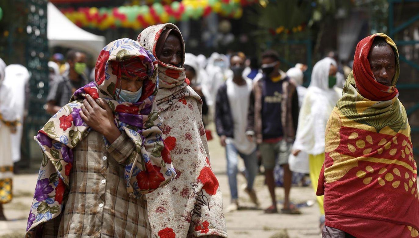 Osoby, które nie respektują wprowadzonych ograniczeń, mają być w Etiopii surowo karane (fot. Minasse Wondimu Hailu/Anadolu Agency via Getty Images)