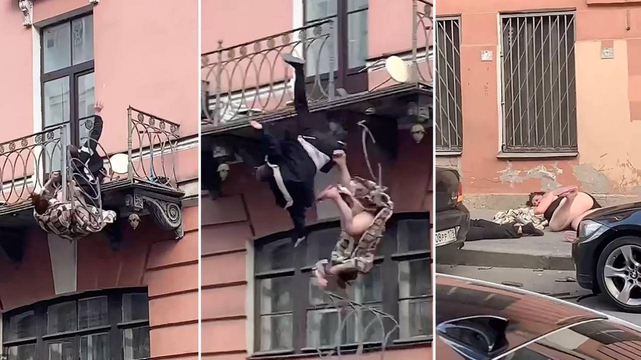 Kobieta i mężczyzna z licznymi złamaniami trafili do szpitala (fot. TT)