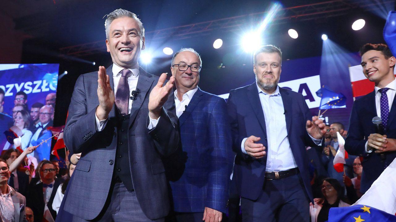 Sztab wyborczy Lewicy, 13 października (arch.PAP/ Rafał Guz)