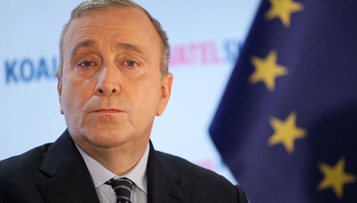 Przewodniczący PO Grzegorz Schetyna (fot. PAP/Mateusz Marek)