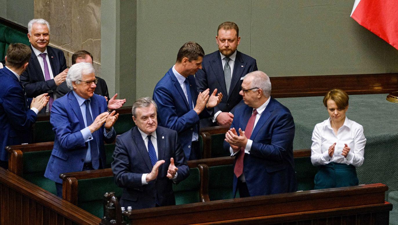 Przeciw wotum głosowało 237 posłów (fot. PAP/Mateusz Marek)