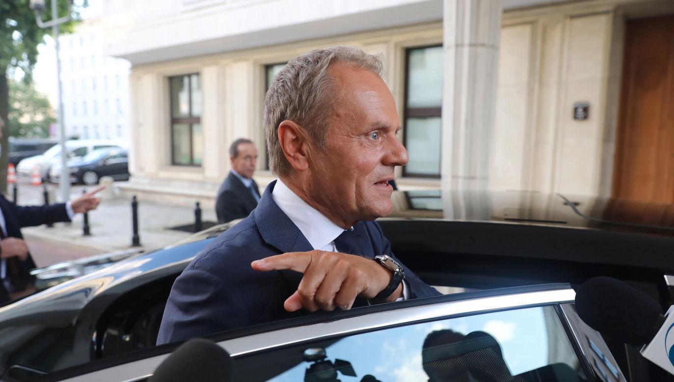 Lider Platformy Obywatelskiej Donald Tusk (fot. PAP/Tomasz Gzell)
