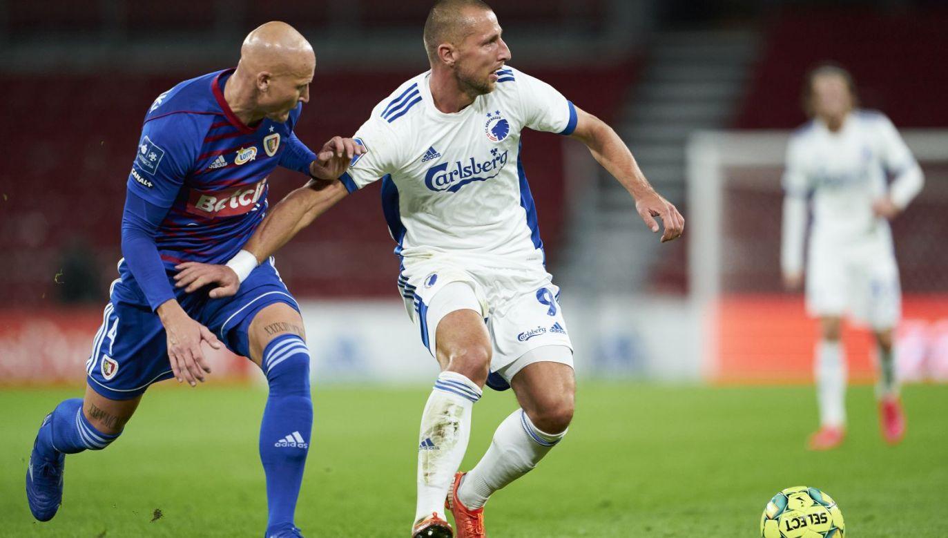Kamil Wilczek przyznał, że drugi gol FC Kopenhaga w meczu z Piastem nie powinien zostać uznany (fot. Getty Images)