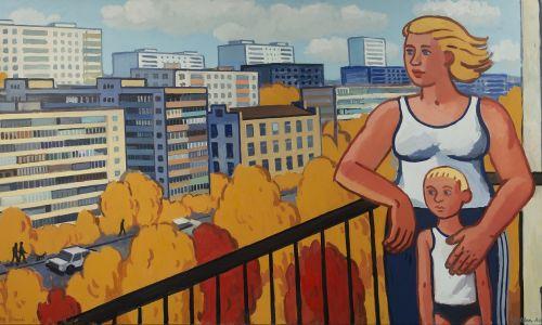 "Zoya Cherkassky-Nnadi ""Złota jesień"" (""Golden Autumn""), 2019, olej na płótnie © Rosenfeld Gallery, Tel Aviv"