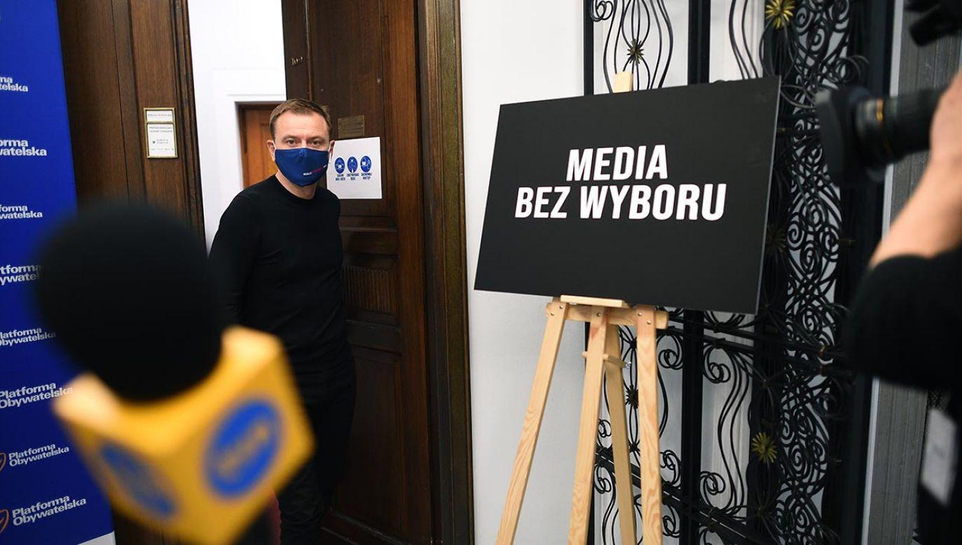 Czy akcja protestacyjna mediów, nazwana na wyrost strajkiem, odniosła skutek? (fot. Forum/Adam Chelstowski)