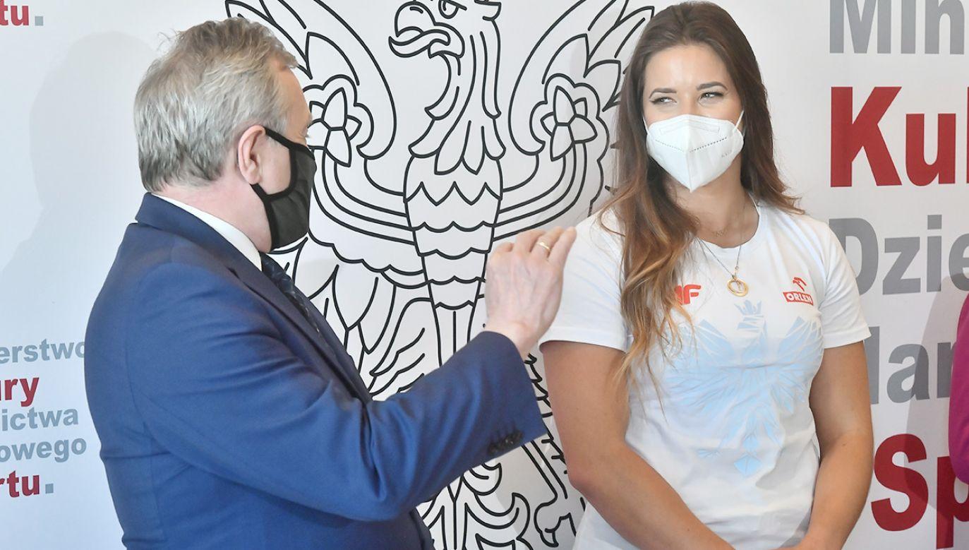 Maria Andrejczyk ustanowiła nowy rekord Polski (fot. PAP/Andrzej Lange)