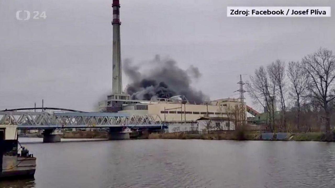 Wskutek wybuchu i pożaru nikt nie został ranny (fot. tt/CT24zive)