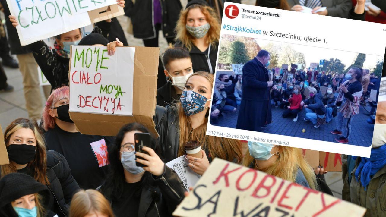 W niedzielę zorganizowano akcje wymierzone w kościoły (fot. PAP/Piotr Nowak; Twitter/Temat Szczecinecki)