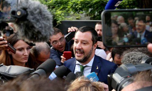 Matteo Salvini po nieformalnym spotkaniu szefów MSW Unii Europejskiej w Innsbrucku, lipiec 2018 r. Fot. REUTERS/Lisi Niesner