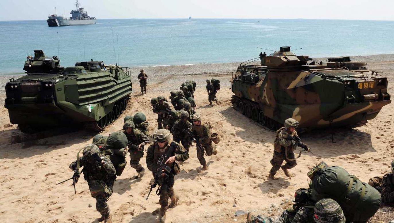 Będą to dziewiąte wspólne ćwiczenia armii USA i Korei Płd. (fot. arch. PAP/EPA/KIM NAM-HO)