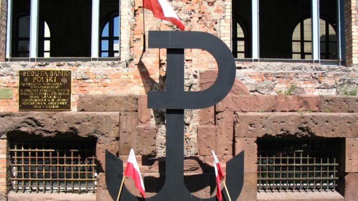Fighting Poland' sign placed among Nazi symbols by NY