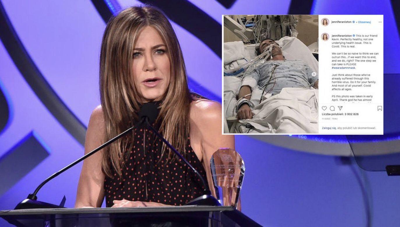 Od początku pandemii w USA koronawirusem zaraziły się już prawie 4 miliony osób (fot. Alberto E. Rodriguez/Getty Images, Instagram/Jennifer Aniston)