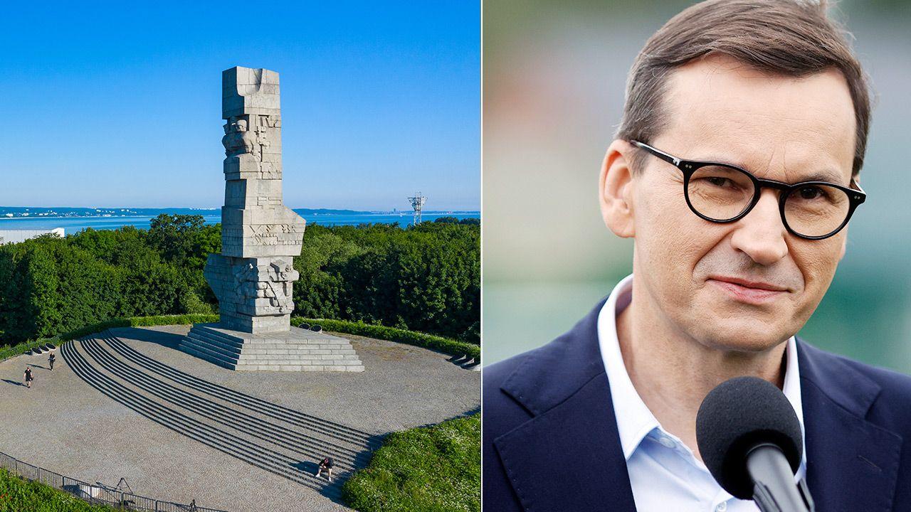 Premier Morawiecki wyraził swoje stanowisko  ws. Westerplatte (fot. Shutterstock; PAP/Waldemar Deska)