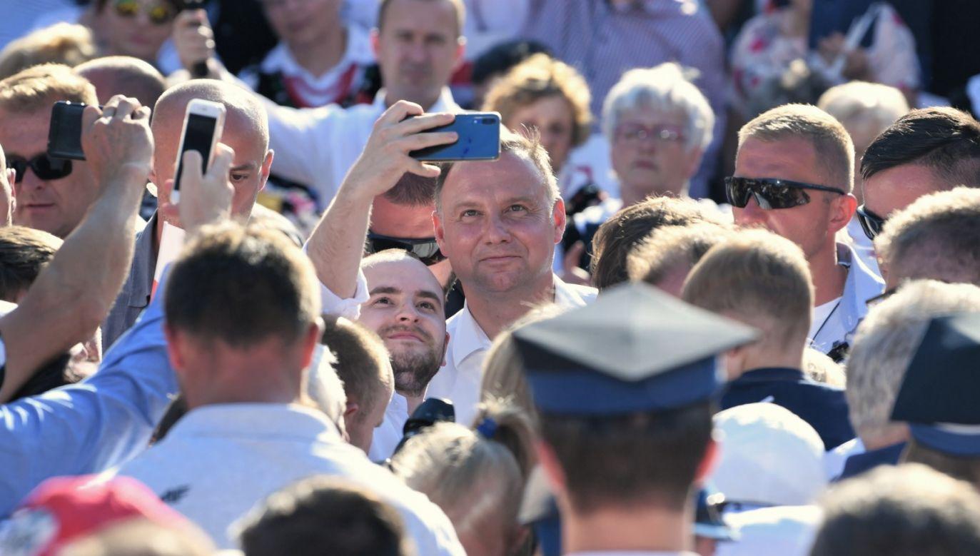 W poniedziałek wieczorem przewodniczący PKW Sylwester Marciniak poinformował, że Andrzej Duda został wybrany ponownie na urząd Prezydenta Rzeczypospolitej (fot. PAP/Darek Delmanowicz)