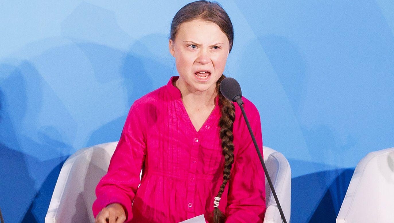 Nastoletnia aktywistka na Szczycie Klimatycznym grzmiała w kierunku światowych przywódców (fot. PAP/EPA/JUSTIN LANE)