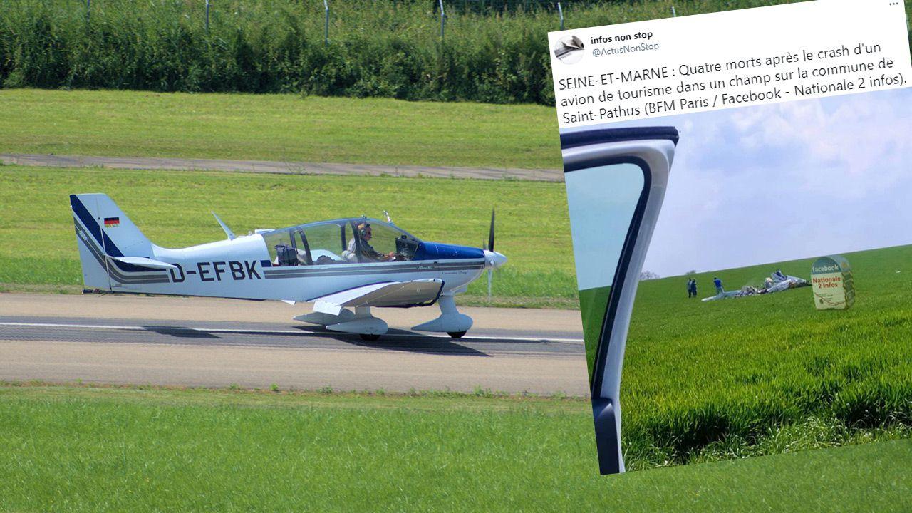 Robin DR400 to lekki, drewniany czteromiejscowy samolot szkoleniowy i turystyczny (fot. Shutterstock; TT)