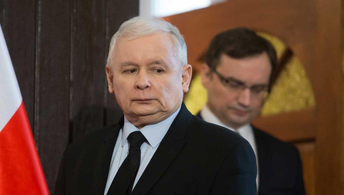 Jarosław Kaczyński ma nadzorować resort Zbigniewa Ziobry (fot. FORUM/ Krystian Maj)