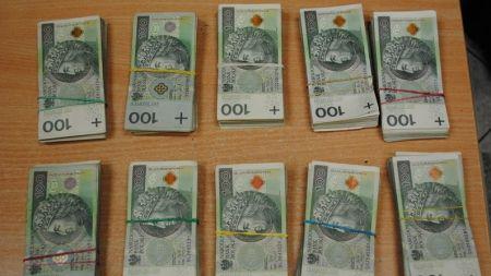 Pieniądze zostały wykryte podczas kontroli samochodu (fot. KAS)