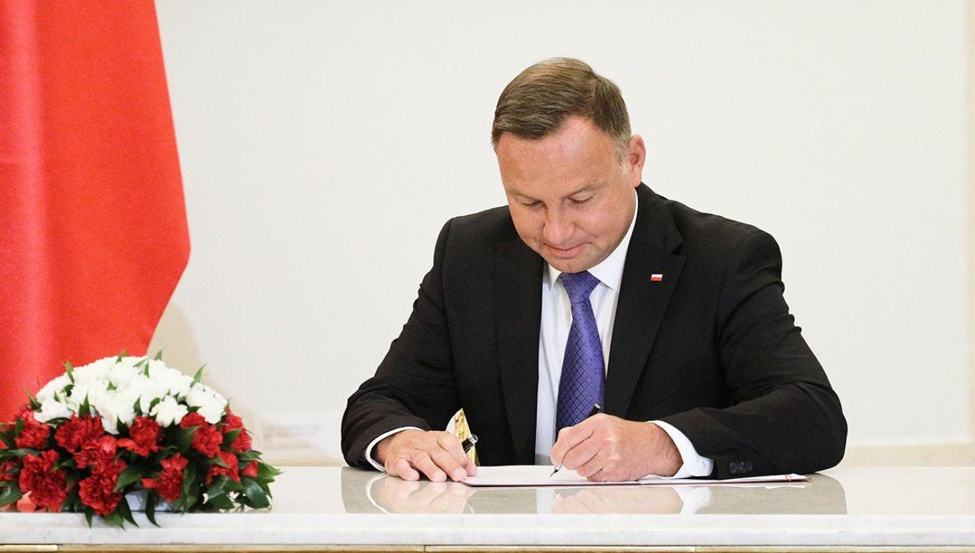 Prezydent Andrzej Duda (fot. PAP/Paweł Supernak)