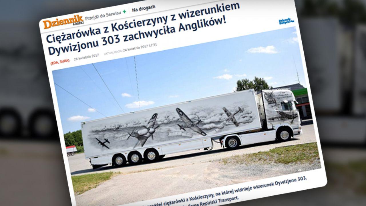 Ciężarówka zdobyła uznanie wśród wielu internautów (fot. dzienniklodzki.pl)