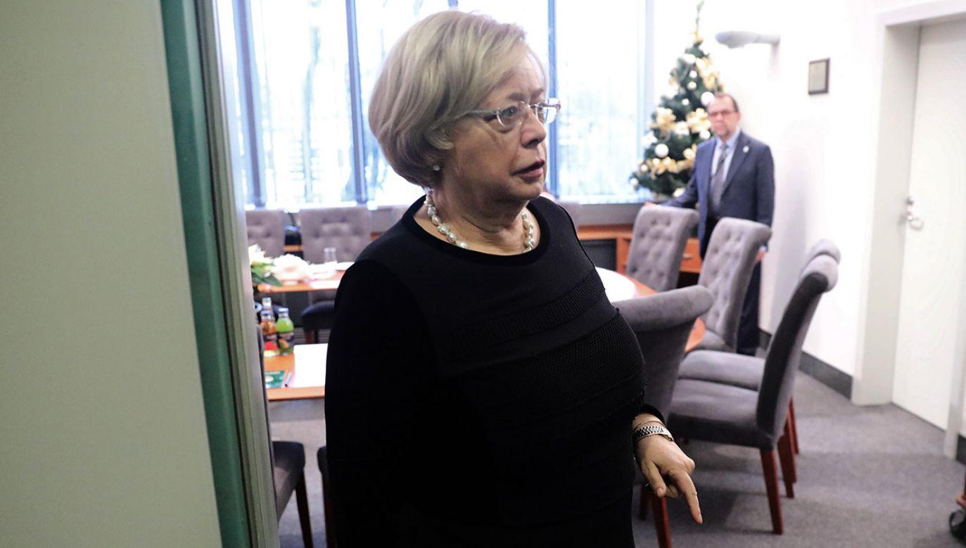 I prezes SN Małgorzata Gersdorf (fot.  PAP/Tomasz Gzell)