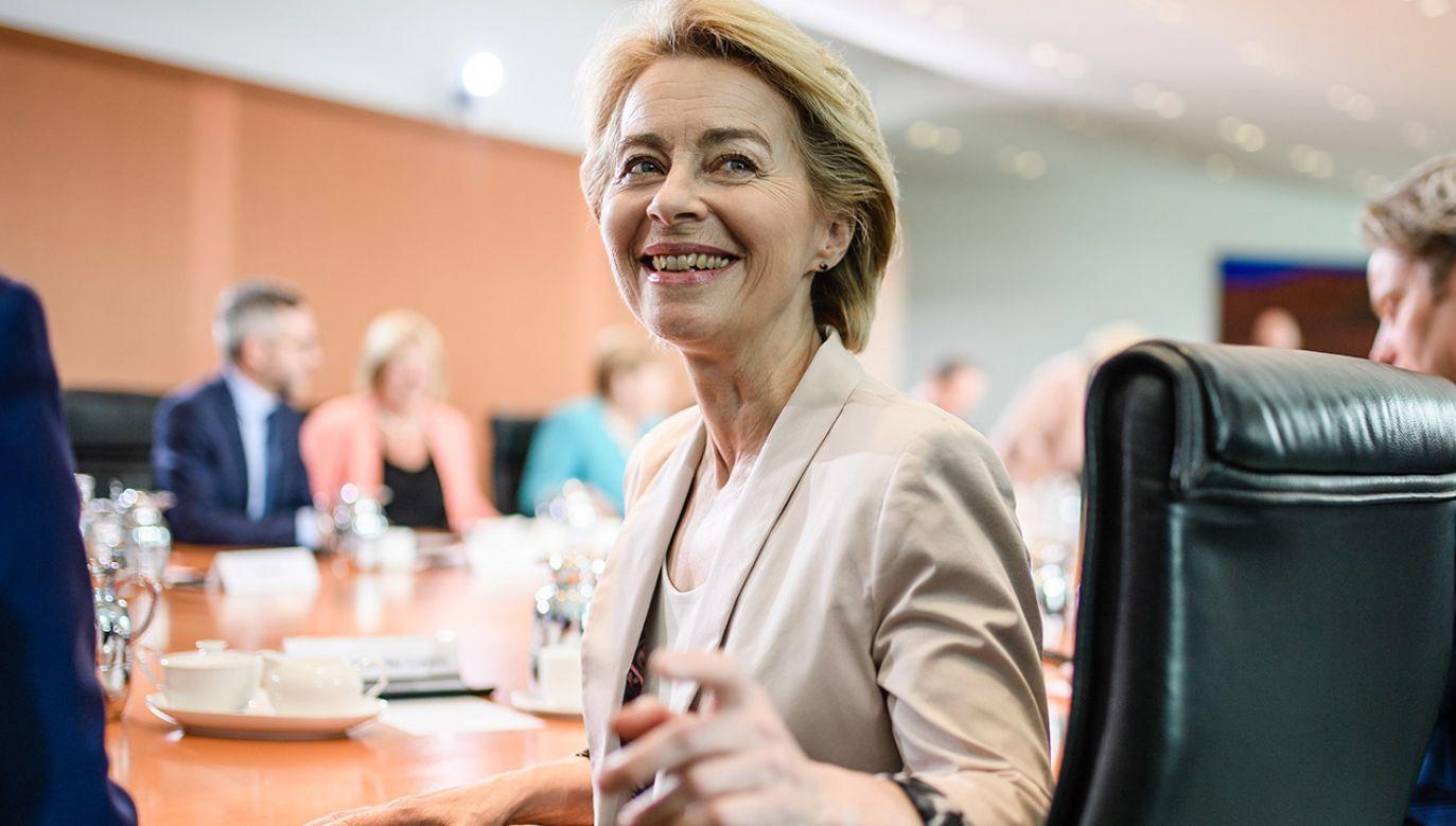 We wtorkowym głosowaniu w Parlamencie Europejskim w Strasburgu Niemka Ursula von der Leyen została wybrana na stanowisko szefowej Komisji Europejskiej (fot. PAP/EPA/CLEMENS BILAN)