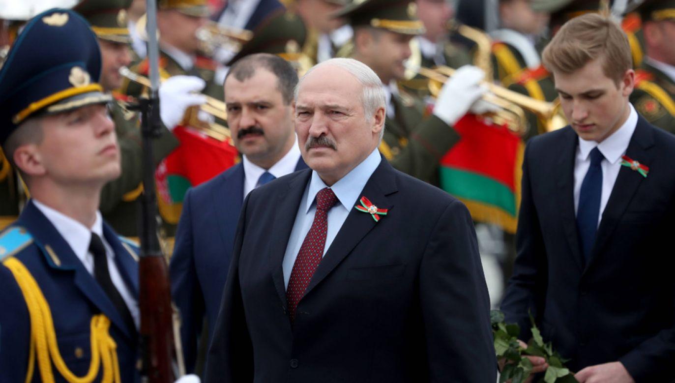 Media spekulują, że nastepcą Alaksandra Łukaszenki zostanie jego 15-letni syn Kola (fot. arch.PAP/EPA/TATYANA ZENKOVICH)