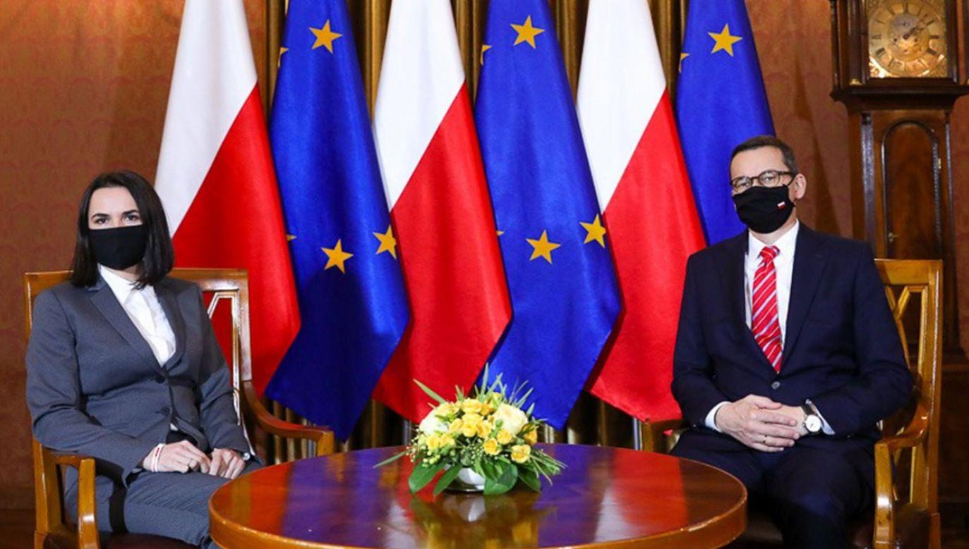 Ostatnio premier spotkał się z Cichanouską we wrześniu (fot. Adam Guz/KPRM)