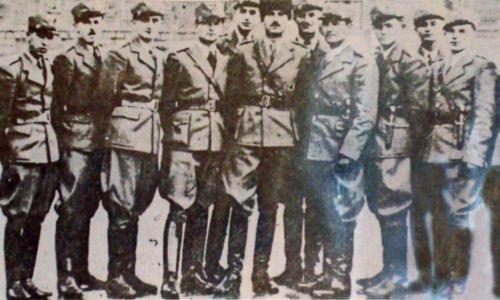 Żołnierze Siczy Karpackiej z dowódcą Dmytro Kłympuszem. Fot. Wikimedia