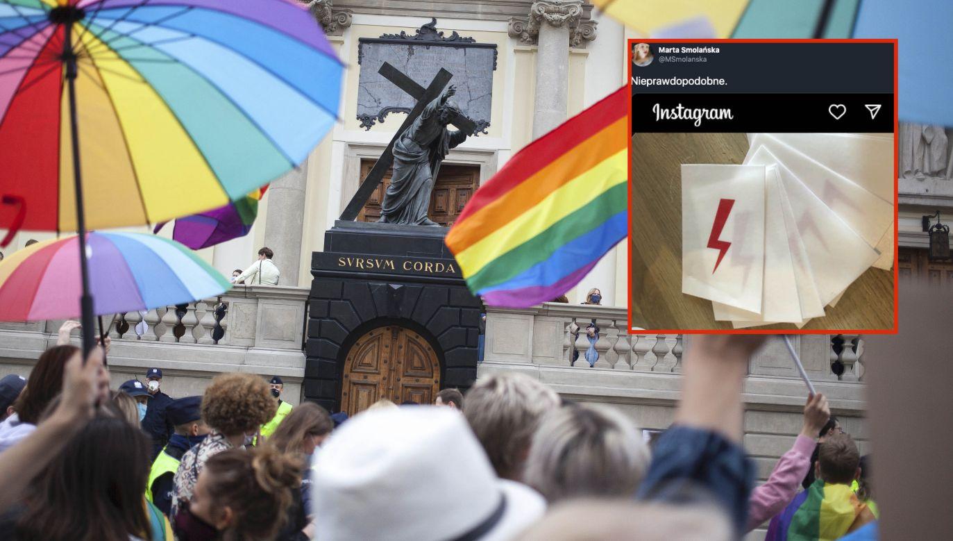 Strajk Kobiet znów uderza w katolików (fot. Maciej Luczniewski/NurPhoto via Getty Images)