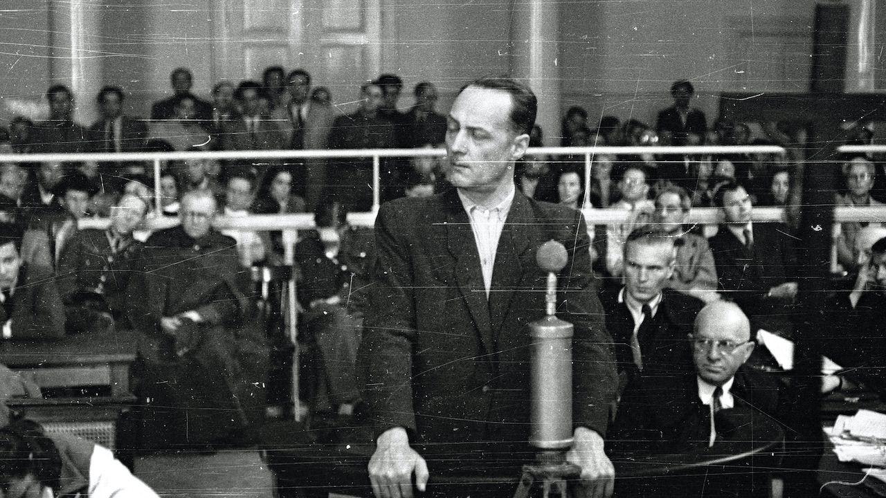 Franciszek Niepokólczycki podczas pokazowego procesu (fot. arch.PAP/Wojciech Kondracki)