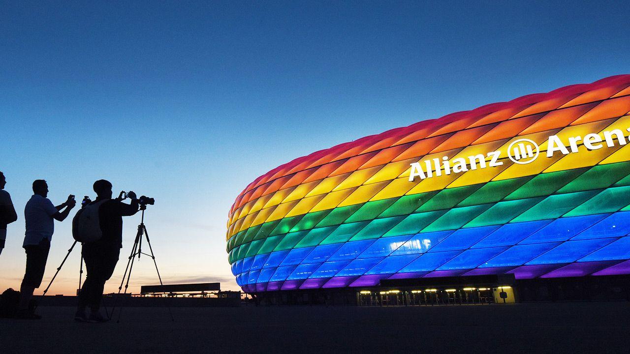 Na Allianz Arena w Monachium Węgry zagrają z Niemcami w ramach Euro 2020 (fot. PAP/EPA/TOBIAS HASE)
