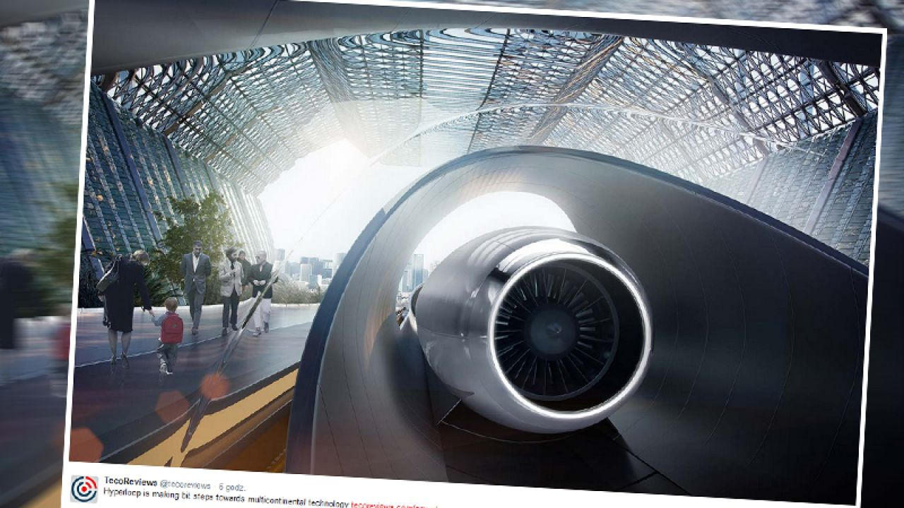 Hyperloop może powstać w Polsce (fot. twitter.com/tecoreviews)