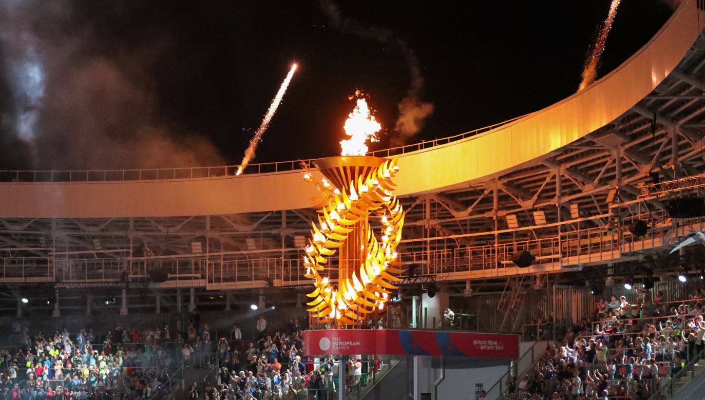 W piątek w Mińsku prezydent Białorusi Aleksandr Łukaszenko ogłosił rozpoczęcie drugiej edycji Igrzysk Europejskich (fot. PAP/EPA/ZURAB KURTSIKIDZE)