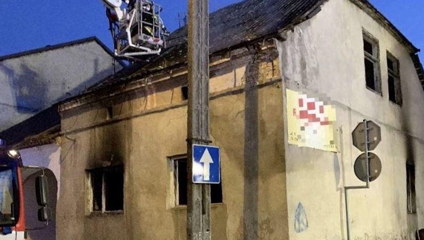 Prawdopodobną przyczyną było zaprószenie ognia (fot. PSP Staszów)