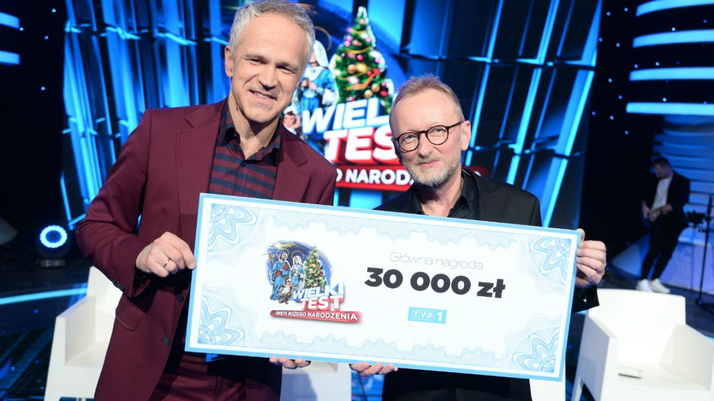 """Radosław Pazura i Andrzej Mastalerz wygrali  """"Wielki Test. Święta Bożego Narodzenia"""""""