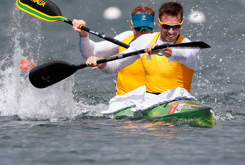 Australijczycy w kajakach dwójkach na 1000 metrów awansowali do finału (fot. Getty Images)