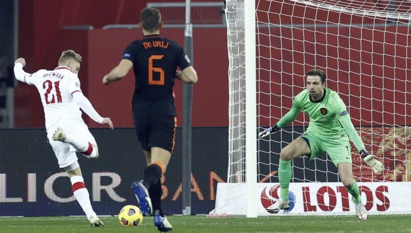 Dla Kamila Jóźwiaka to pierwszy gol w narodowych barwach (fot. ANP Sport via Getty Images)