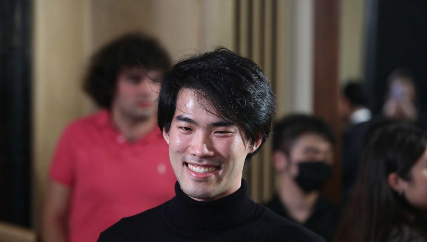 Laureat XVIII Konkursu Chopinowskiego Bruce (Xiaoyu) Liu (fot. Wojciech Olkuśnik)