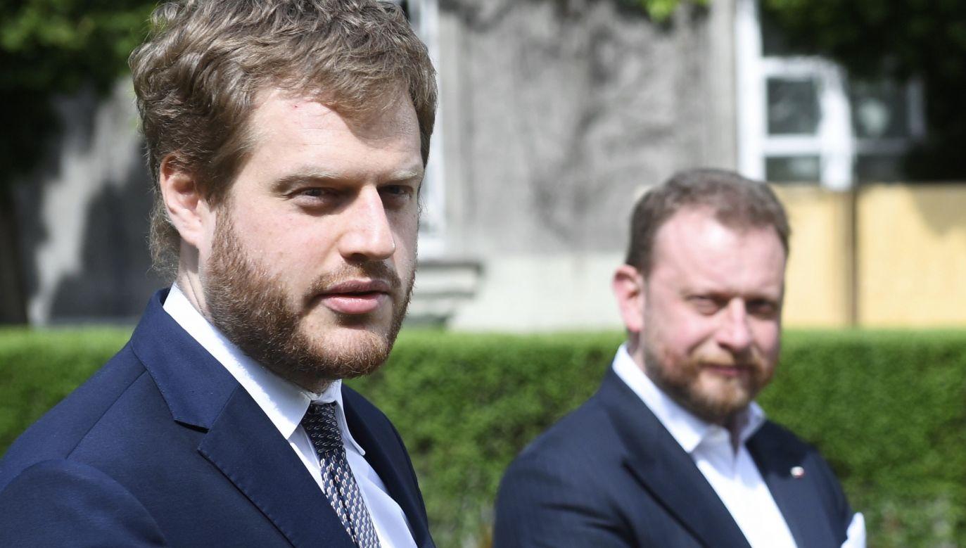 Janusz Cieszyński i Łukasz Szumowski (fot. arch.PAP/Radek Pietruszka)