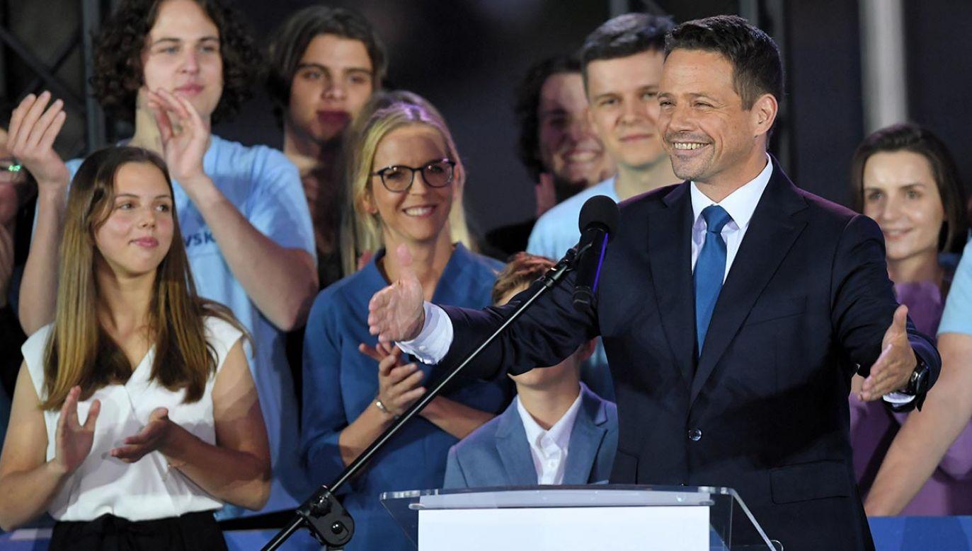 Wieczór wyborczy kandydata Koalicji Obywatelskiej (fot. PAP/Radek Pietruszka)