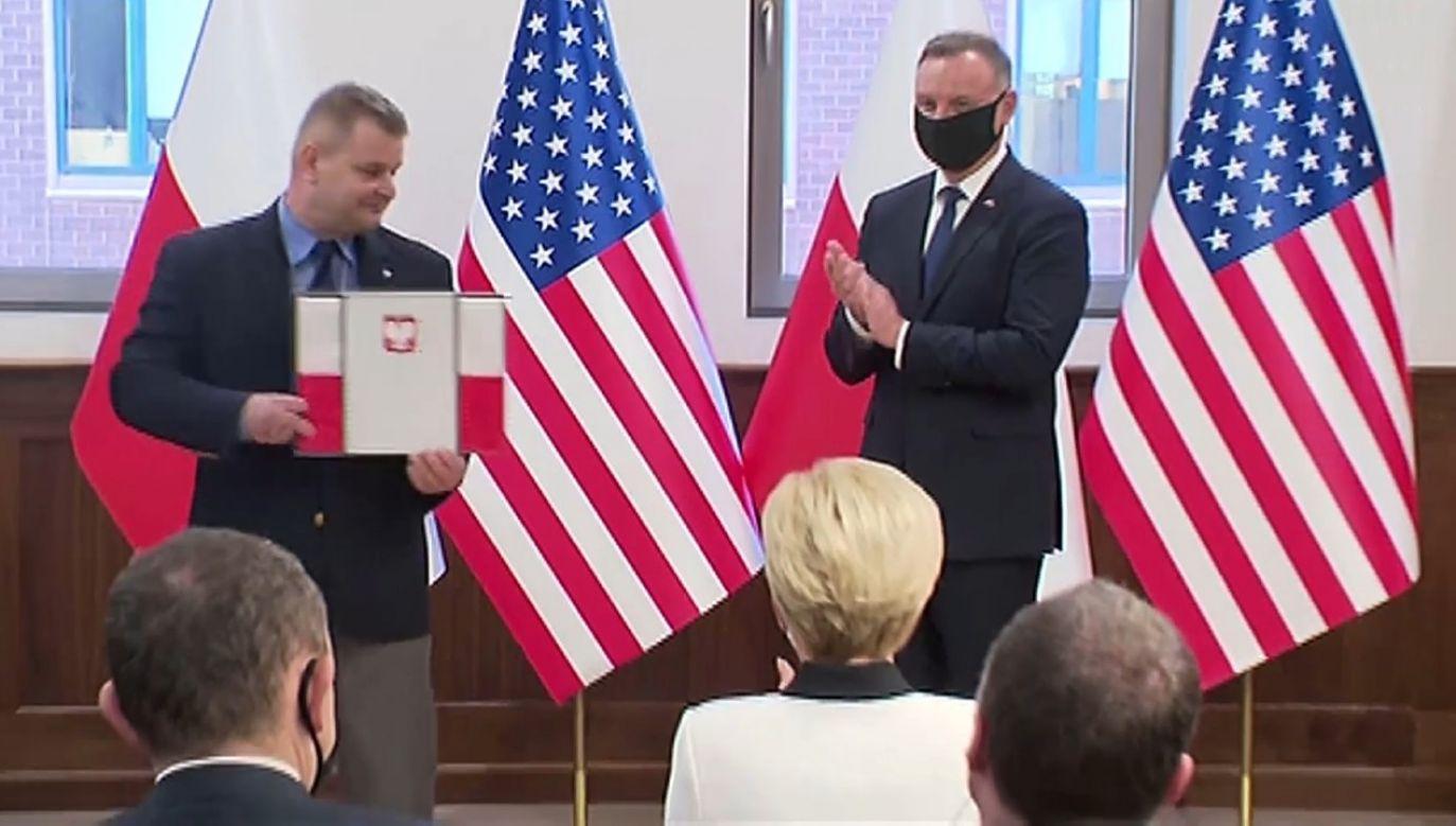 Wizyta prezydenta zbiegła się z 100. rocznicą utworzenia Stowarzyszenia (fot. TVP)