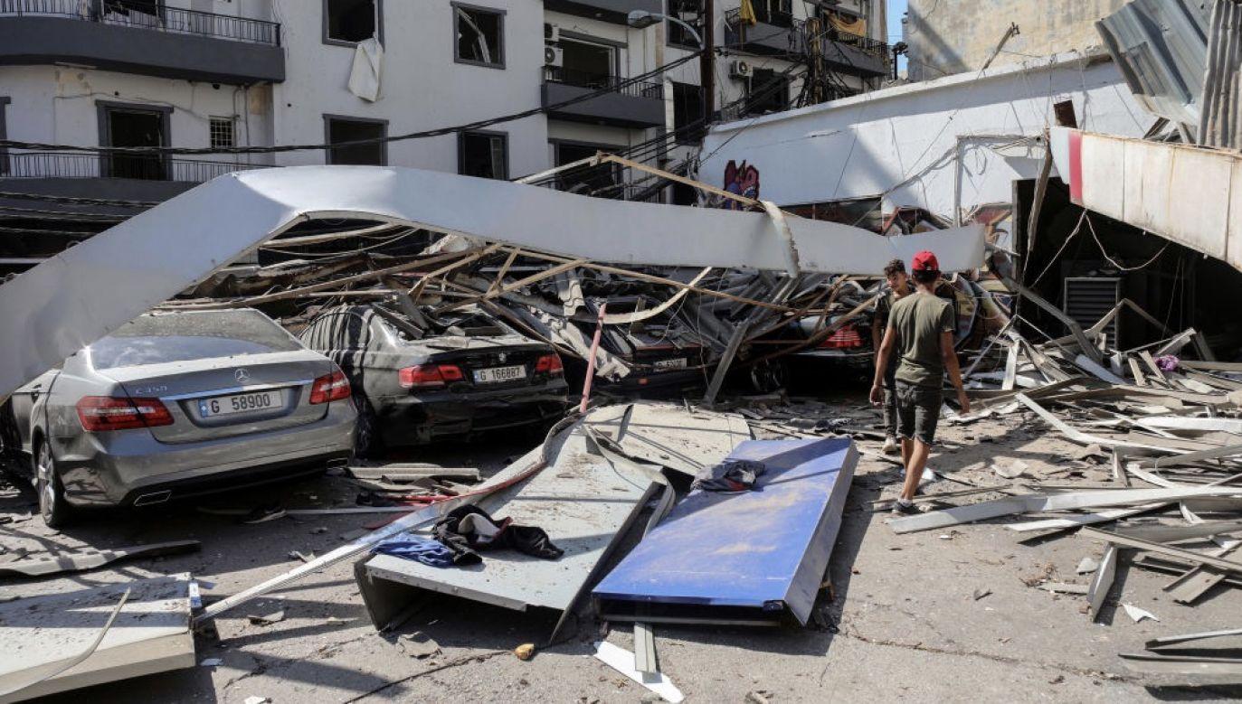 Wcześniej libański rząd ogłosił stan wyjątkowy dla miasta Bejrut, który ma obowiązywać przez dwa tygodnie (fot. Hasan Shaaban/Bloomberg via Getty Images)