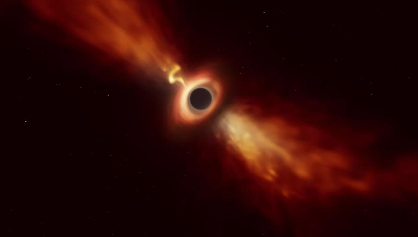 Zaobserwowane zjawisko zmienia postrzeganie funkcjonowania czarnych dziur (fot. YouTube/ European Southern Observatory)